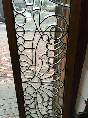 St 356 Magnificent All Beveled Glass With Graduated Circles Transom Window 3