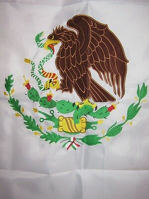 3x5 Embroidered Mexico Mexican 210D-D Sewn Nylon Flag 3/'x5/' Double Sided 2ply