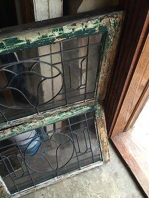 Sg 845 2 Available Price Separate Antique Leaded Glass Window 9