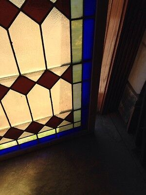 Antique Arch Top Stained Glass Window 33.25 X 63.25 High Sg 134 7