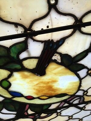 Antique Painters Palette Stainglass Window With Many Jewels 9