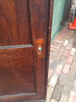 R D 13 Antique Oak Single 2 Panel Pocket Door