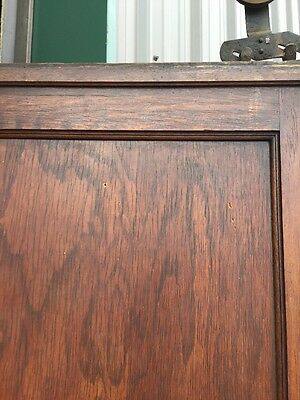 R D 13 Antique Oak Single 2 Panel Pocket Door 3