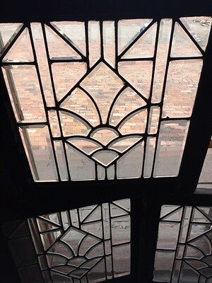 Sg 746 Three Available Price Separate Antique All Beveled Glass Window 2