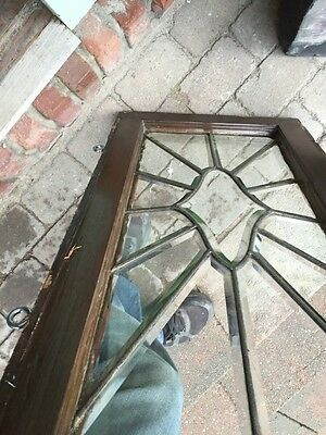 Sg 842 Antique All Beveled Glass Transom 16 X 31 7