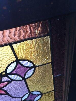 Sg 588 Antique Floral Vine Transom Window Beveled Glass Center 6