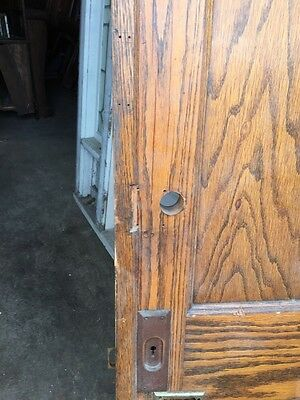 Cm 49 Antique Oak Two Panel Pocket Door 3