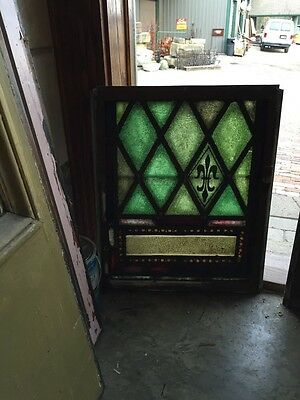 Sg 327 Two Matching Antique Fluer De Lis Windows In Cast-Iron Frames 2