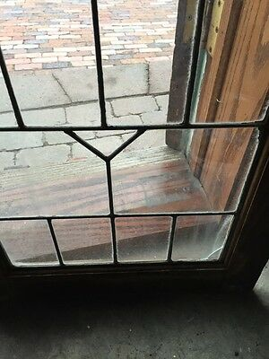 Sg 363 One Pair Antique Leaded GlassCabinet Doors Or Windows 8