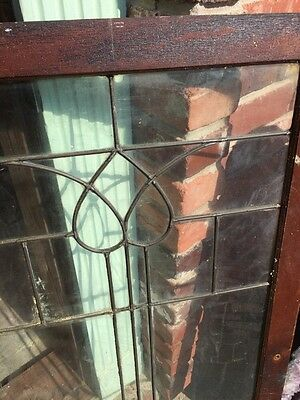 "Sg 821 Antique Leaded Glass Window 22"" X 43.5"" 6"