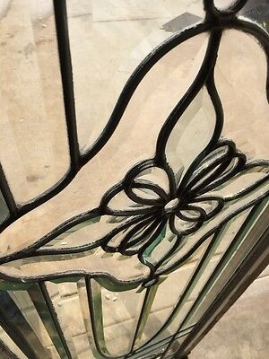 "Ca 7 Amazing Antique All Beveled Glass Transom Window 84"" 8"