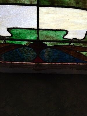 Sg 672 Antique Gothic Arch Top Stainglass Window Two Available Price Each 10