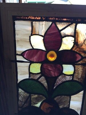 Sg 507 Antique Floral Window 16 And Three-Quarter By 31 And Three-Quarter 2