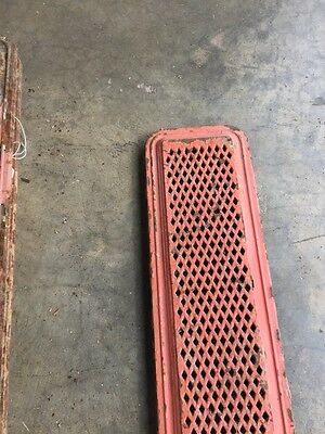 "Rt 3 Antique Cast-Iron Radiator Cover 39"" X 7 And Three-Quarter Inch"