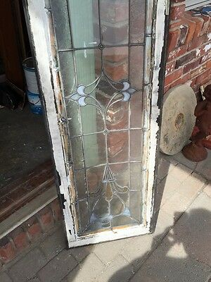 Sg 740 Antique Transom Window Stainglass 18 X 60 7