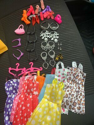 Doll Accessories Clothes Shoes Necklace Glasses For Barbie Doll Gift 40 Item/Set 10