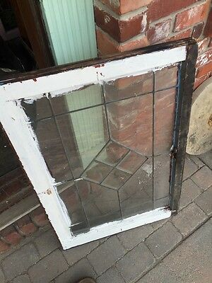 Sg 702 Antique Leaded Glass Window For Square Bevel Center 6