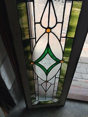 Sg 742 Antique Transom Window 4 Faceted Jewels 3