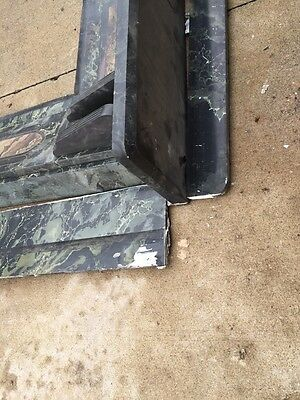 Antique Slate Mantle With Marble Finish