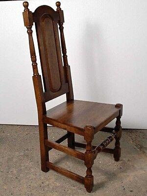 Set 8 English Elizabethan Tudor Oak Dining Chairs Chair 11