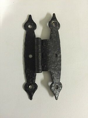 48 Antique Black Painted Iron Door Cabinet/Drawer Hinges 3.5 Inches 3
