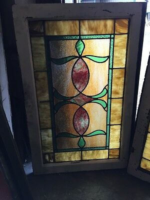Sg 677 2 Available Priced Separate Antique Stainglass Windows 2