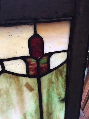 Sg 404 Arts And Crafts Antique Stainglass Window 3