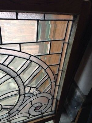 Sg 207 Absolutely Incredible 1880S Beveled Glass Window 4