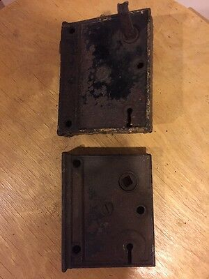 Antique Lock Boxes Lot Of 2 Needs Repair Not Working 4