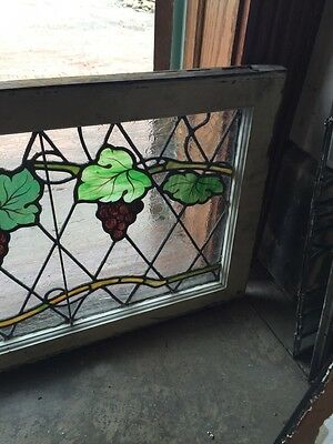 Sg 748 Antique Grape Vine Window With Painted Grapes 5