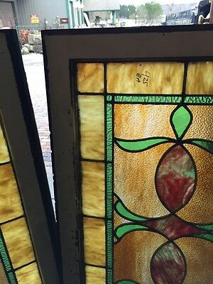 Sg 677 2 Available Priced Separate Antique Stainglass Windows 4