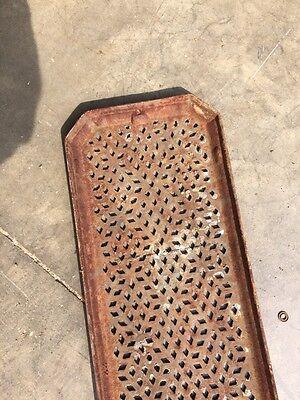 "Rt 10 Antique Cast-Iron Radiator Cover 25"" X 8 Half-Inch 5"