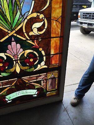 Ca14 Antique 1890S Stainglass Landing Window 6