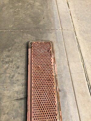 "Rt 5 2 Available Priced Each Antique Cast-Iron Radiator Cover 61"" X 10"" 5"