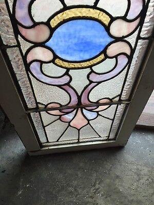 """Sg 759 Antique Transom Window 16.25"""" X 40.25"""" 4"""