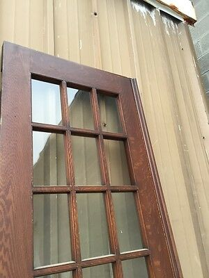 Pd1 Pair Antique Pine Wood Grain Interior French Doors Oversize 7