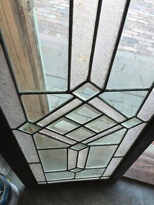 Sg 620 Antique Textured And Beveled Glass Transom Window 7