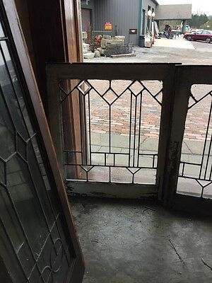 Sg 351 Antique Matched Pair Arrows Beveled Windows 2