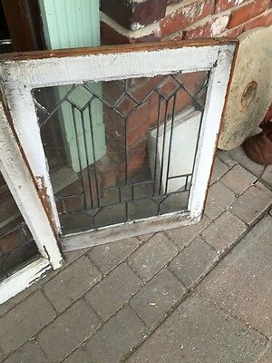 Sg 351 Antique Matched Pair Arrows Beveled Windows