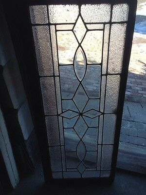 Sg 91 Antique Beveled Glass And Textured Glass Transom Window 2