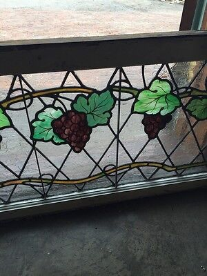 Sg 748 Antique Grape Vine Window With Painted Grapes 4