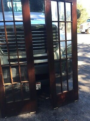 Cm 25 One Pair Antique Beveled Glass Birch 54 Inch Wide French Doors 10