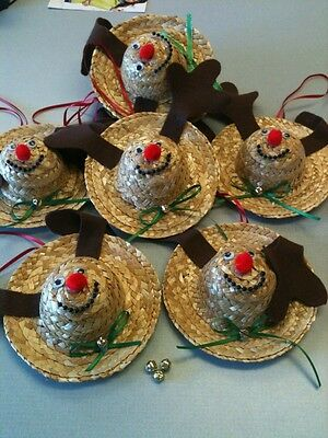 ... Ready Made Christmas Crafts Lot-Ornaments Are Handmade From Kits-Cute Festive