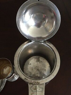 Antique Victorian Silver plate Tilting Water Pitcher with stand and goblet 4