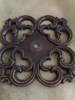 Vintage Drawer Pulls + Backplates, Mid-Century, Cast Mold, Bronze, Ajax Hardware 5