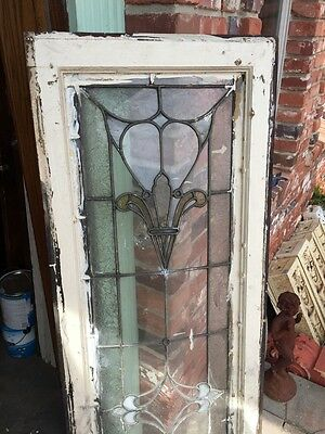 Sg 740 Antique Transom Window Stainglass 18 X 60 8