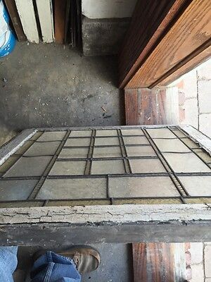 Sg 710 Antique Geometric Design Stain Window 6