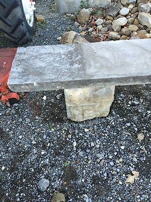 Antique Five Piece Stacked Stone Garden Bench 2