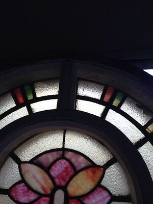Number Three Youngstown's Finest Stained Glass Woodframe Antique Windows 6