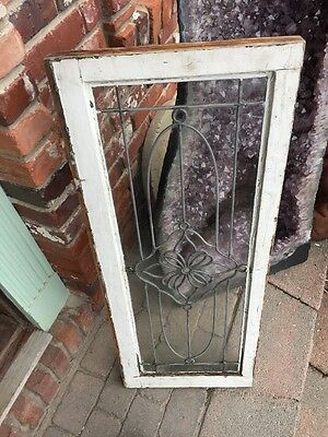 Sg 888 Antique Leaded Glass Floral Design Transom Window 6